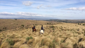 Horseriding in the hills (I'm on the right).